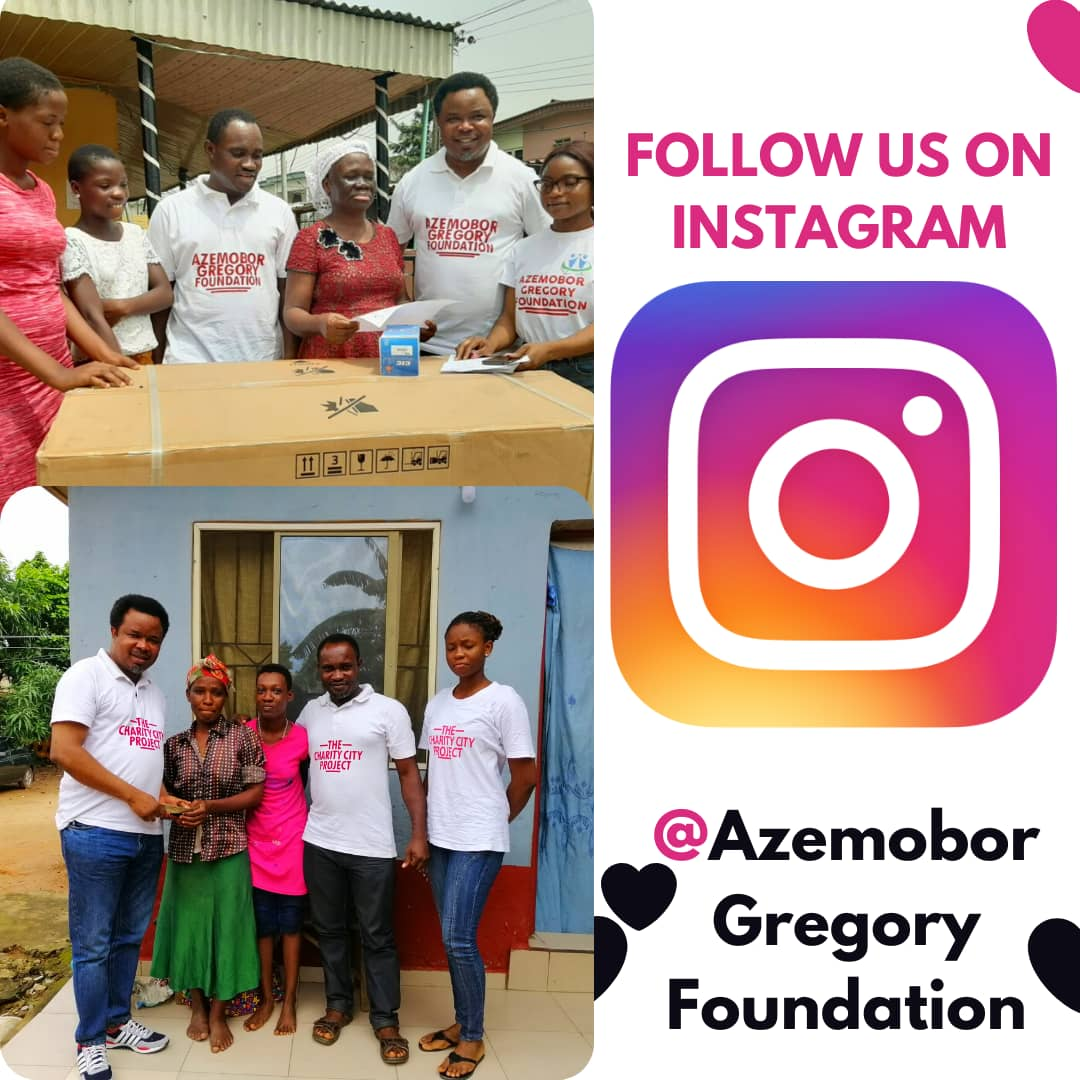 Instagram page alert- Get inspired by the act of love from the Azemobor Gregory Foundation.