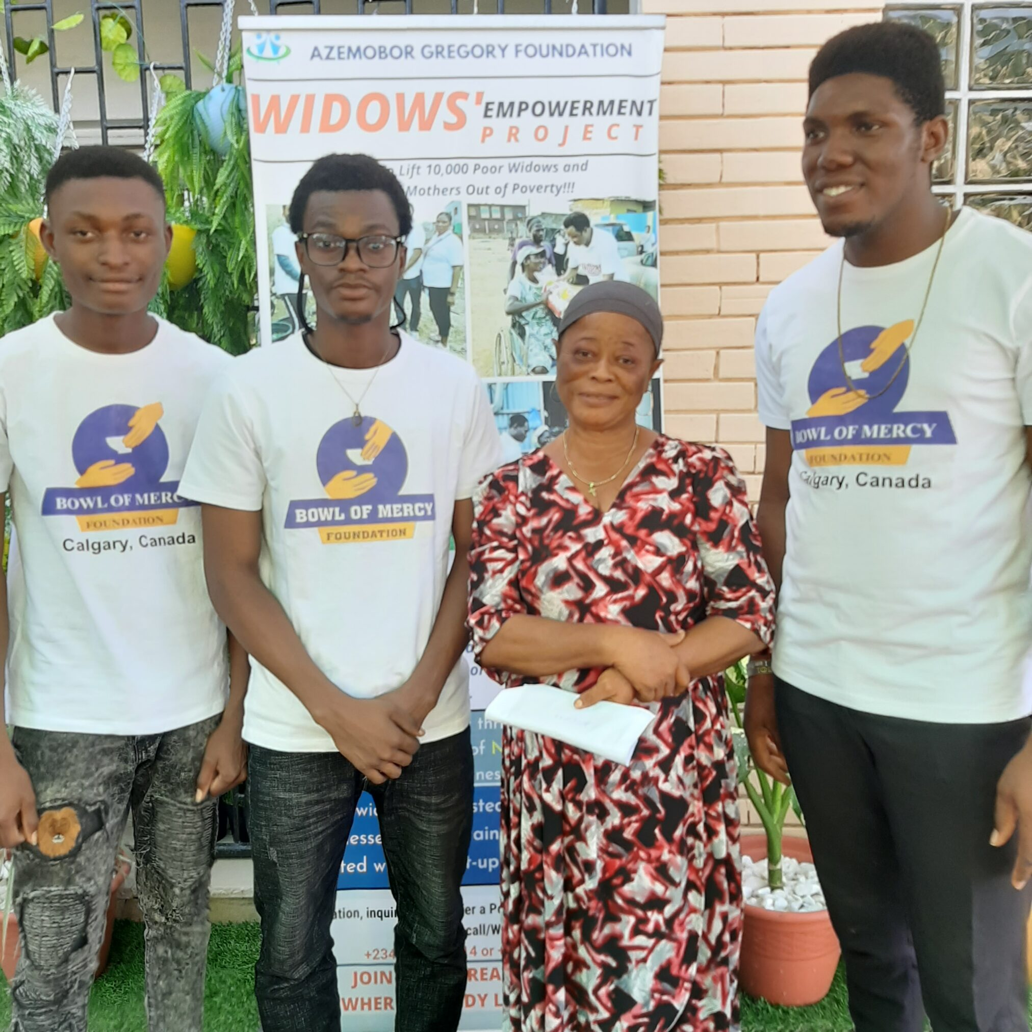 """Azemobor Gregory Foundation- """"Mrs Beatrice, a widow has a reason to smile"""""""